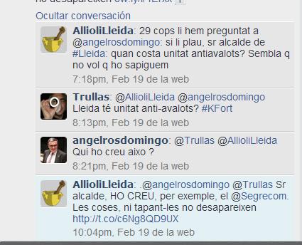Twits antiavalots Ros