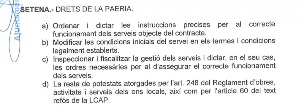 Contracte Eysa aparcament Magisteri