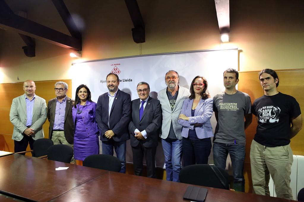 Roda de premsa celebrada aquest dimecres (Imatge de Paeria)
