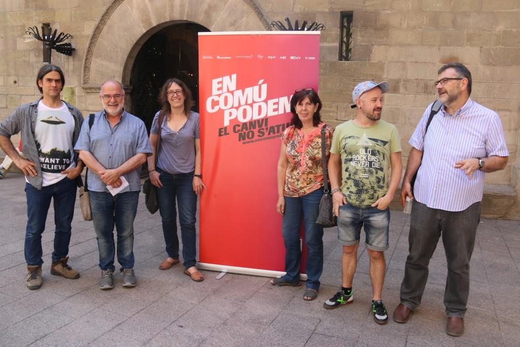 Comuns de Lleida han presentat el manifest suport a ECP